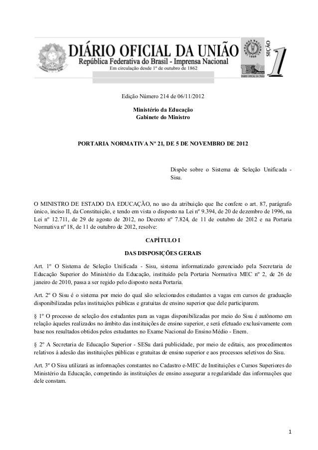 Edição Número 214 de 06/11/2012                                          Ministério da Educação                           ...