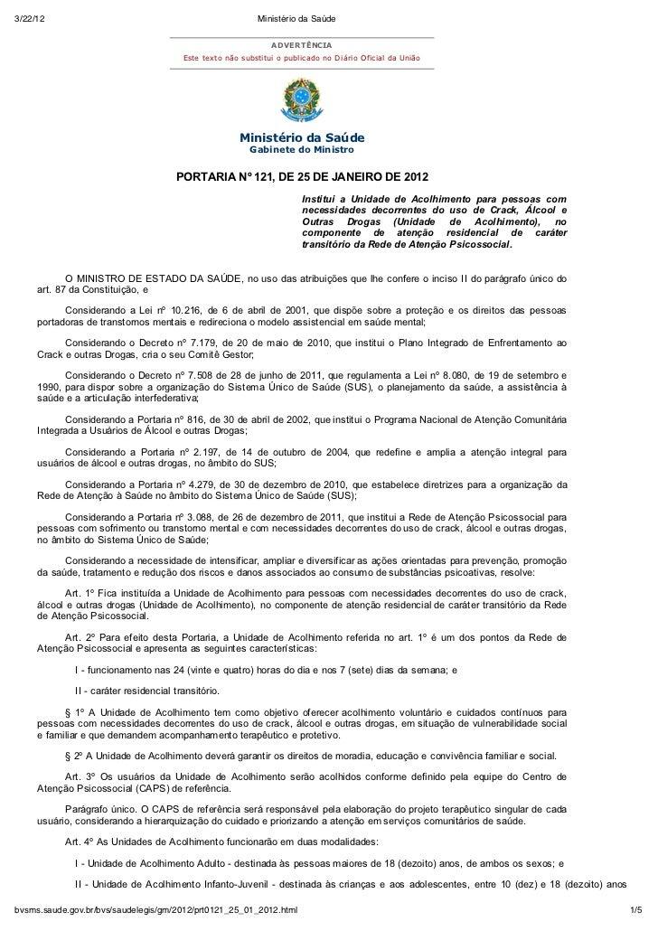 3/22/12                                                    Ministério da Saúde                                            ...
