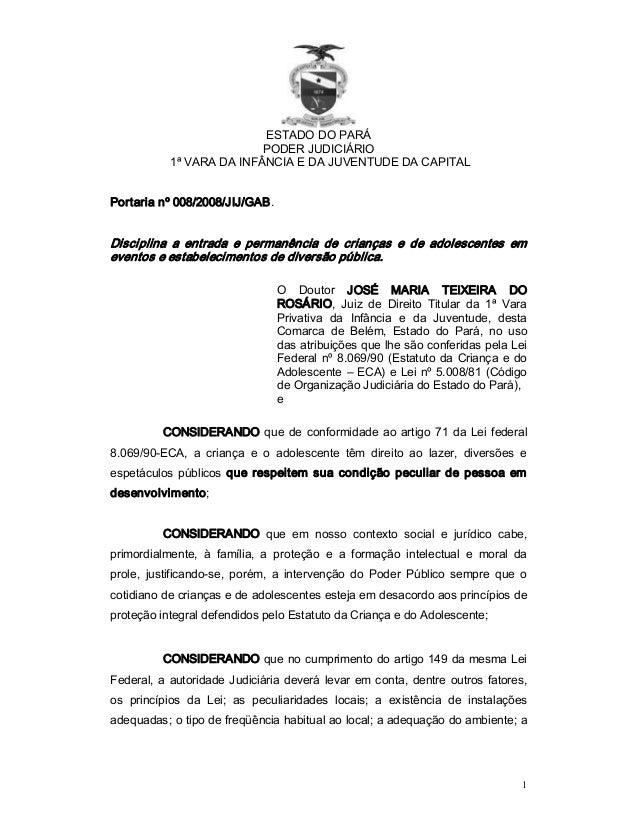 ESTADODOPARÁ                           PODERJUDICIÁRIO            1ªVARADAINFÂNCIAEDAJUVENTUDEDACAPITALPorta...