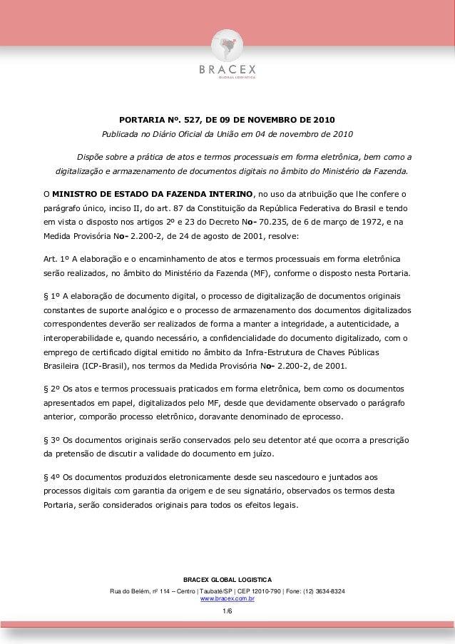 BRACEX GLOBAL LOGISTICA Rua do Belém, nº 114 – Centro | Taubaté/SP | CEP 12010-790 | Fone: (12) 3634-8324 www.bracex.com.b...