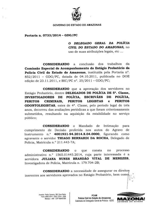 Portaria nº 0733 2014