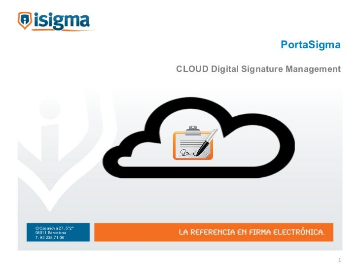 PortaSigma CLOUD Digital Signature Management