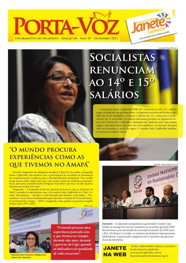 Informativo do Mandato - Edição 68 - Ano 10 - Dezembro 2012                                                               ...