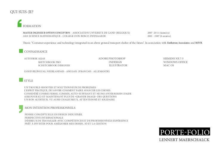 QUI SUIS-JE?      FORMATION      MASTER INGENIEUR OPTION CONCEPTION - ASSOCIATION UNVERSITE DE GAND (BELGIQUE)            ...