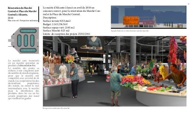 6  Rénovation du Marché Central et Place du Marché Central à Alicante, 2010  Plan sous sol / Perspective intérieure  La ma...