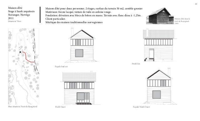 10  Maison d'été Stage à Saark arquitects Stavanger, Norvège 2011 Situation/ Vues  Maison d'été pour deux personnes. 2 éta...