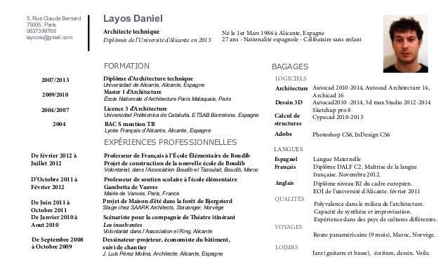 5, Rue Claude Bernard 75005, Paris 0637399766 layicos@gmail.com  Layos Daniel Architecte technique  Diplômée de l'Universi...