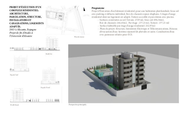 PROJET D'ÉXÉCUTION D'UN COMPLEXE RÉSIDENTIEL: ARCHITECTURE, PARCELATION, STRUCTURE, INSTALLATIONS ET CANALISATIONS, LOGEME...