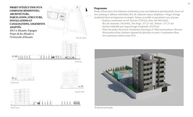 18 Programme Projet d'Ëxécution d'un bâtiment résidentiel, pour une habitation plurifamiliale: Sous-sol avec parking et dé...