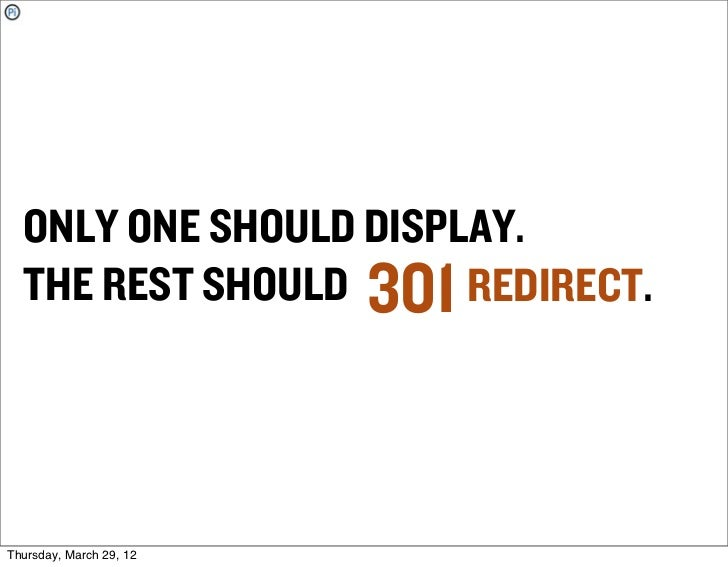 ONLY ONE SHOULD DISPLAY.  THE REST SHOULD 301 REDIRECT.Thursday, March 29, 12