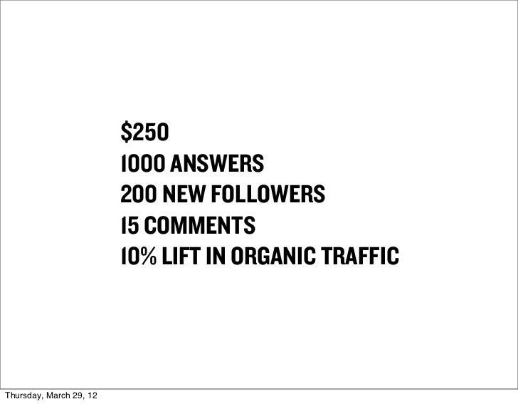 $250                         1000 ANSWERS                         200 NEW FOLLOWERS                         15 COMMENTS   ...