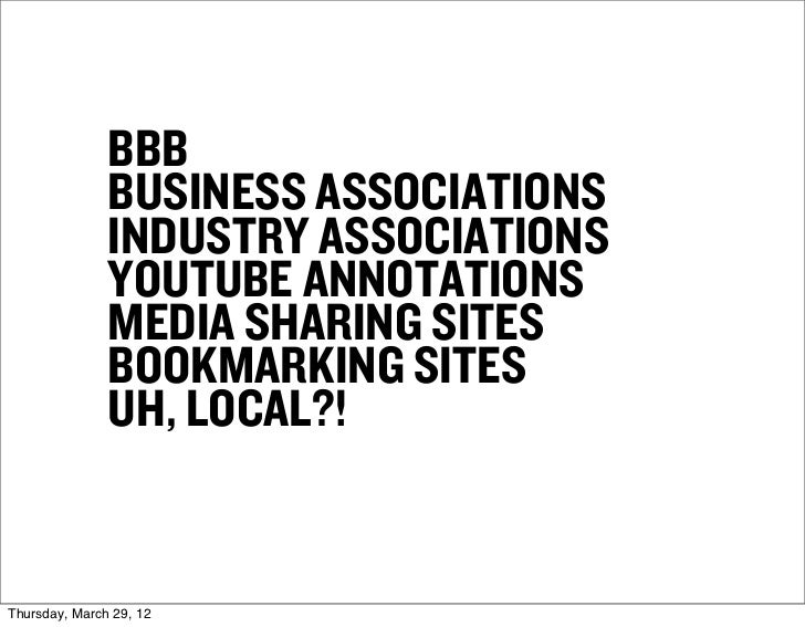 BBB               BUSINESS ASSOCIATIONS               INDUSTRY ASSOCIATIONS               YOUTUBE ANNOTATIONS             ...