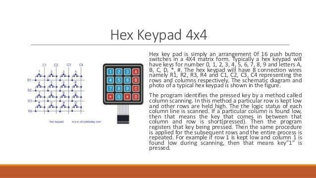 4x4 Hex Keypad