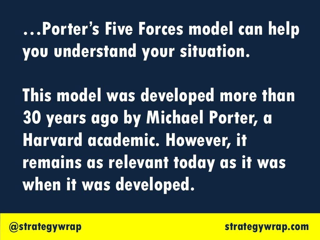 bms porters five force model Porter's five forces framework is a tool for analyzing competition of a business it draws from industrial organization (io) economics to derive five forces that determine the competitive intensity and, therefore, the attractiveness (or lack of it) of an industry in terms of its profitability an unattractive industry is one in which the.