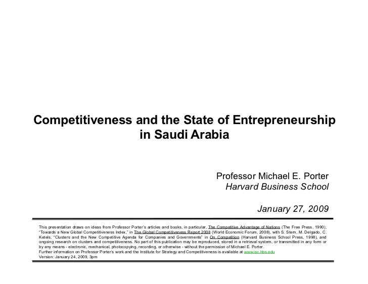 Competitiveness and the State of Entrepreneurship                       in Saudi Arabia                                   ...