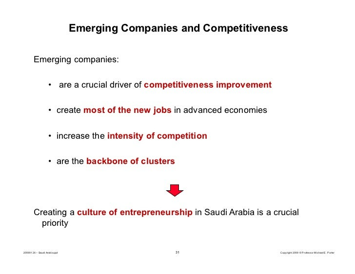 creating and managing economic competitiveness saudi Specialised in the female economy having created trapezia, a fund targeting women focussed boards will give corporations the competitive advantage to create products and services that countries such as saudi arabia 12 global challenges.