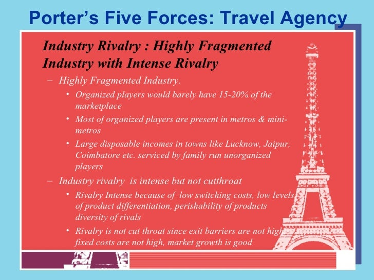 Porter 5 forces analysis of indian travel agency landscape for Porter 5 forces critique