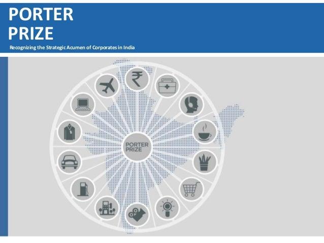 PORTER PRIZERecognizing the Strategic Acumen of Corporates in India
