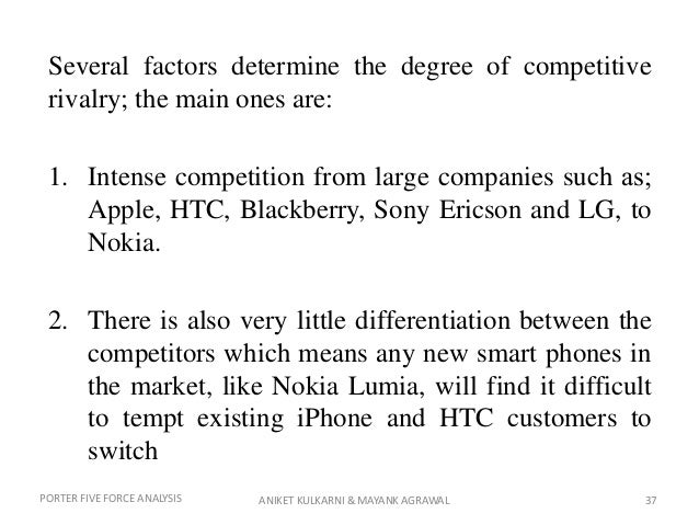 htc porter five forces analysis Although htc is one of top five worldwide smartphone producers but  due to  the swot and porter's five forces analysis, htc corporation.