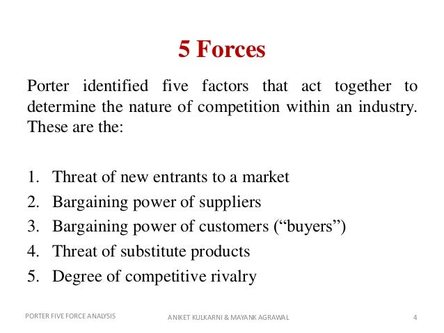 nissan five forces analysis Strategic management industry analysis notes page 2 dkd industry/market definition qualitative approach: two products are in the same market if they are close substitutes.