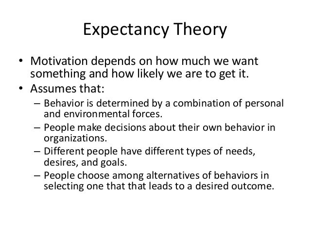 2 how do the various theories of motivation predict behavior in organizations