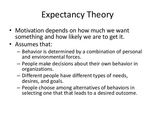 Expectancy ...
