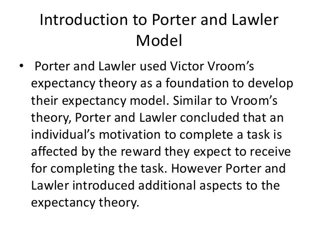 porter and lawler theory