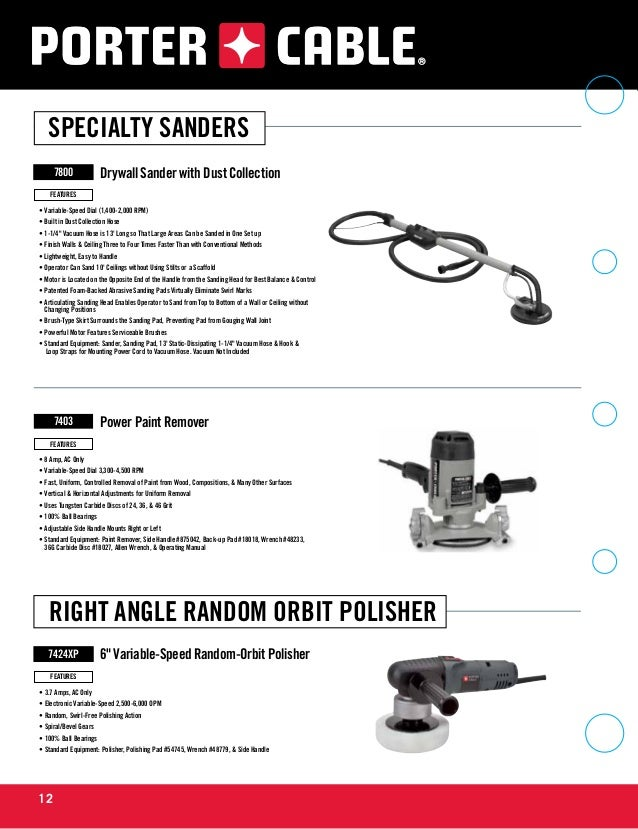 Porter cable tools catalog for Porter cable 4213 template