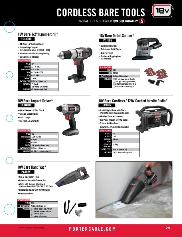 Porter Cable Tools Catalog