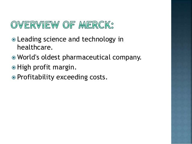 Merck: A Company Analysis Essay