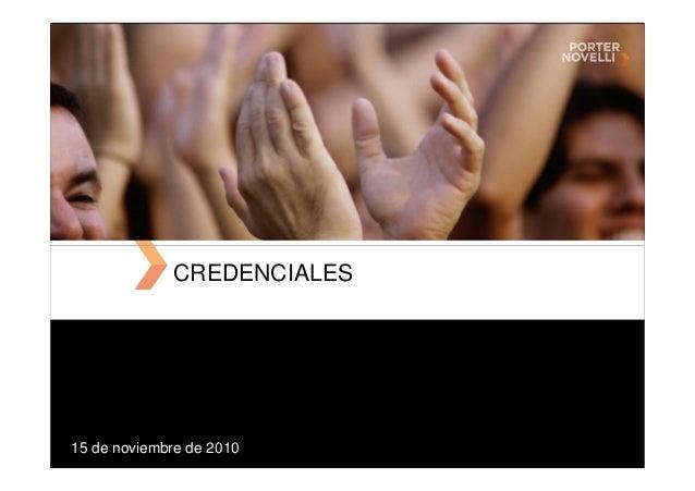 15 de noviembre de 2010 CREDENCIALES