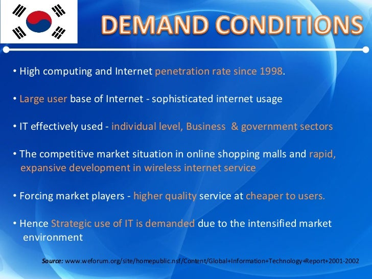 <ul><li>High computing and Internet  penetration rate since 1998 .  </li></ul><ul><li>Large user  base of Internet - sophi...