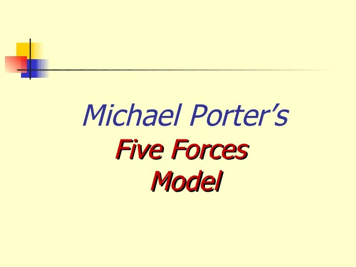 ipad porter 5 forces Definition: the five forces model of analysis was developed by michael porter to analyze the competitive environment in which a product or company works description.