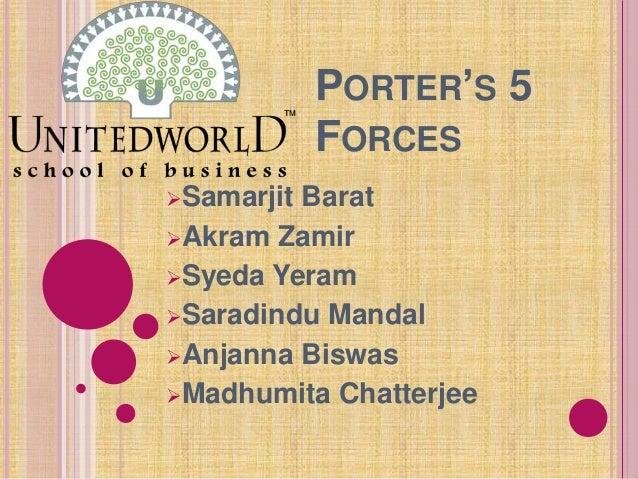 PORTER'S 5 FORCES Samarjit Barat Akram Zamir Syeda Yeram Saradindu Mandal Anjanna Biswas Madhumita Chatterjee