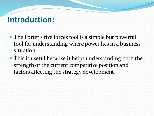 porter 5 forces analysis food manufacturing industry Industry analysis: the fundamentals • from environmental analysis to industry analysis • porter's five forces framework commercial banks 155 food.
