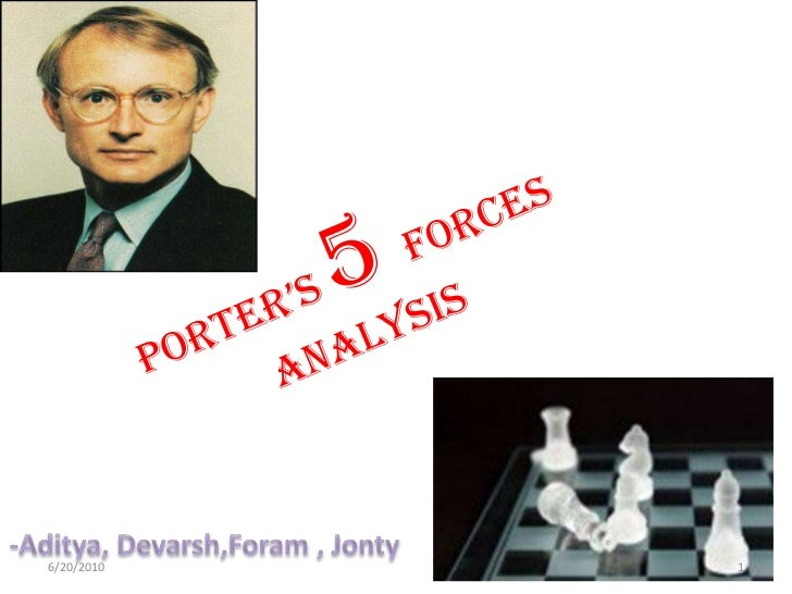 PORTER'S 5 FORCES ANALYSIS<br />-Aditya, Devarsh,Foram , Jonty<br />2/20/2010<br />1<br />