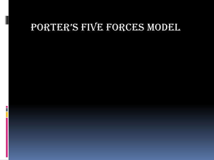 PORTER'S FIVE FORCES MODEL<br />