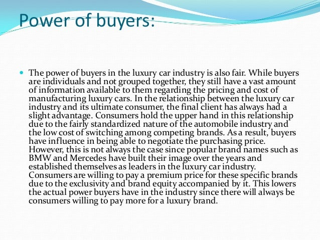 bmw porter forces Marketing theories - explaining porters five forces visit our marketing theories page to see more of our marketing buzzword busting blogs porter's five forces is.