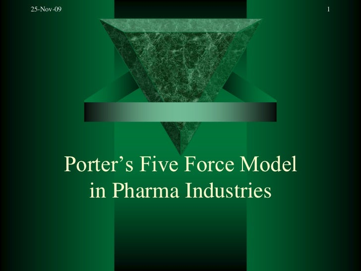 Porter's Five Force Modelin Pharma Industries<br />25-Nov-09<br />1<br />