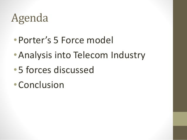 porters five forces for telecom industry in india In this article, we will look at 1) understanding suppliers, 2) bargaining power of suppliers, 3) effect on target market, 4) example - the diamond industry, and 5) example - the fast food an important force within the porter's five forces model is the bargaining power of suppliers.