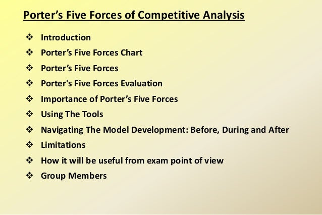 Porter's Five Forces Model of Competitive Analysis Slide 2