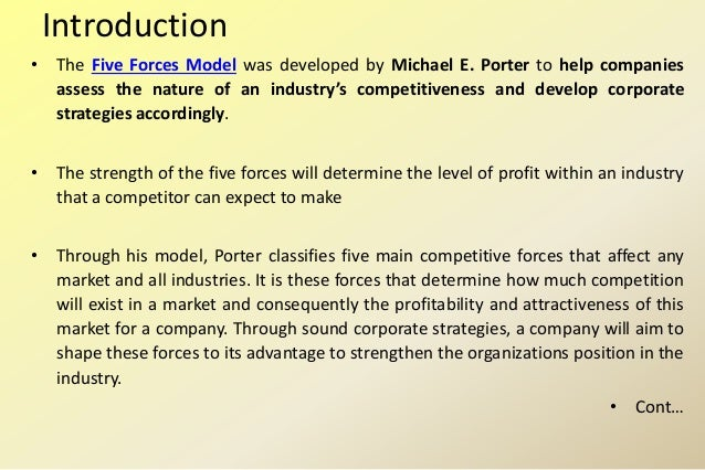 porter's five forces assessing the balance