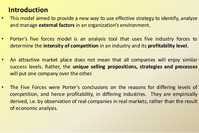 porter s five forces model to do a competitive analysis of mcdonald Mcdonald's - five forces analysis short description of porter's five forces analysis that determine industry competition add your input to mcdonald-s's five.