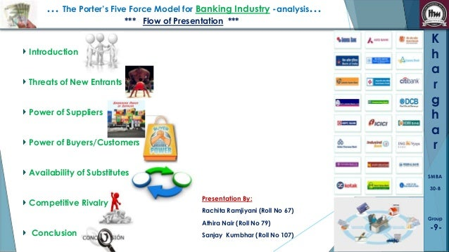 … The Porter's Five Force Model for Banking Industry -analysis… *** Flow of Presentation ***  K h a r g h a r  Introductio...