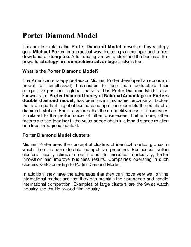 porters diamond theory