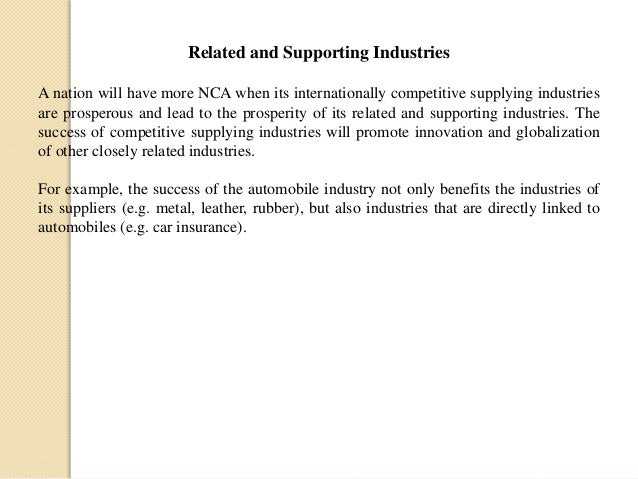 related and supporting industries
