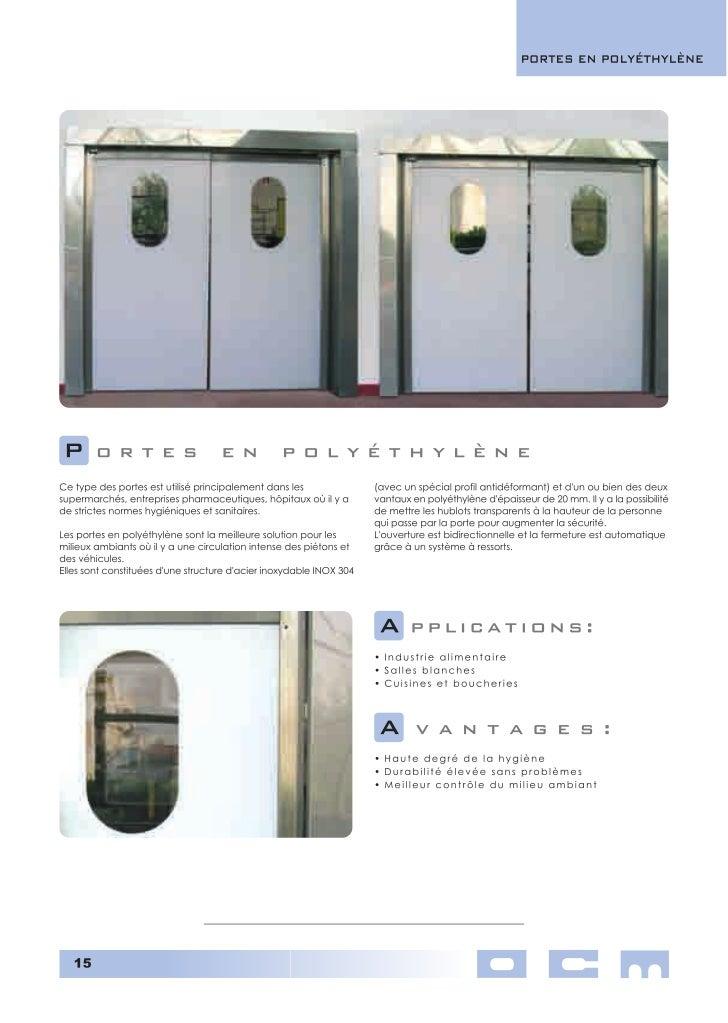 Portes empilables souples rapides Porte souple rapide