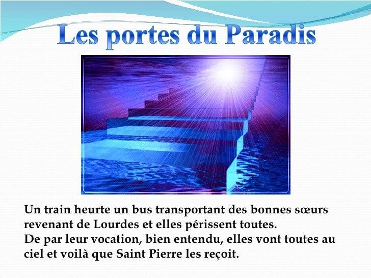 Un train heurte un bus transportant des bonnes sœurs revenant de Lourdes et elles périssent toutes.  De par leur vocation,...