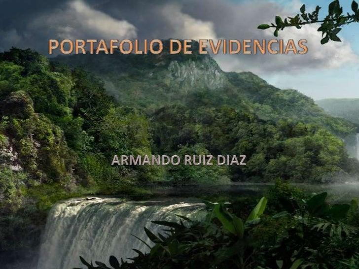PORTAFOLIO DE EVIDENCIAS<br />ARMANDO RUIZ DIAZ<br />