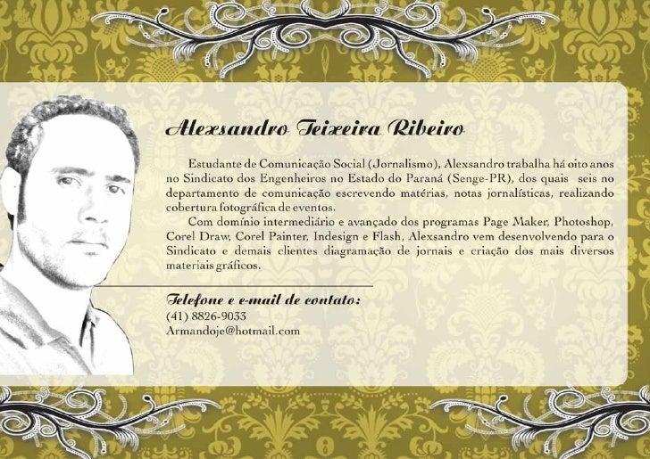 Portfólio de Alexsandro Teixeira Ribeiro